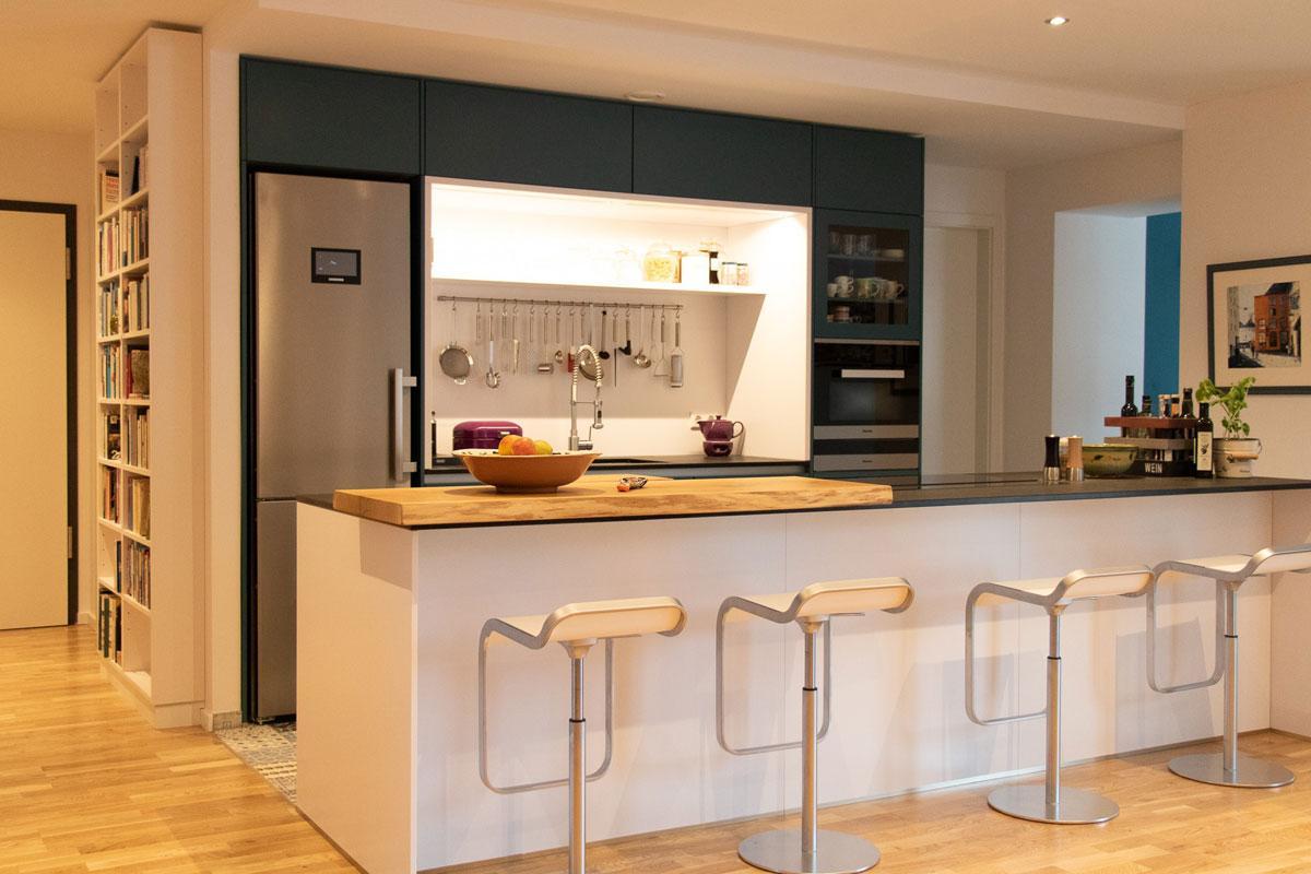 Schmale Küche Mit Theke