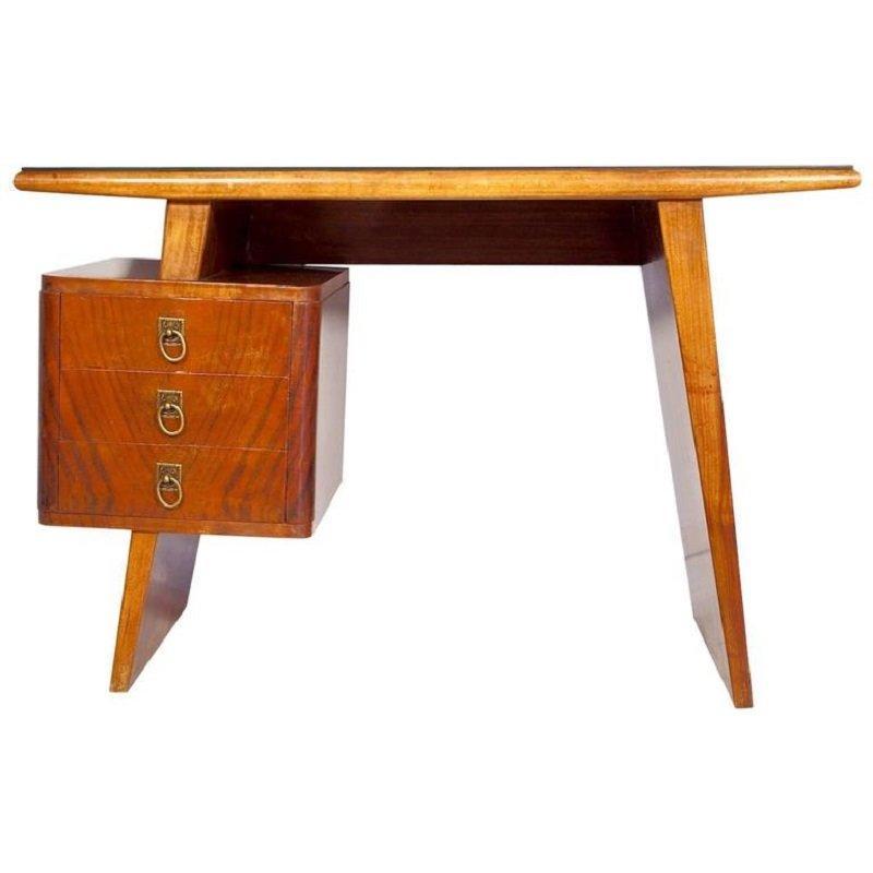 Schmaler Schreibtisch Mit Schubladen