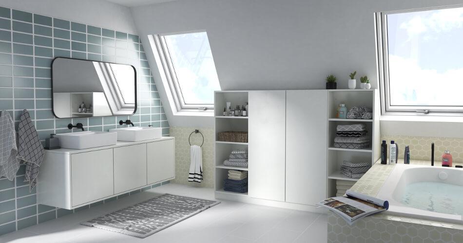 Schrank Badezimmer Weiß