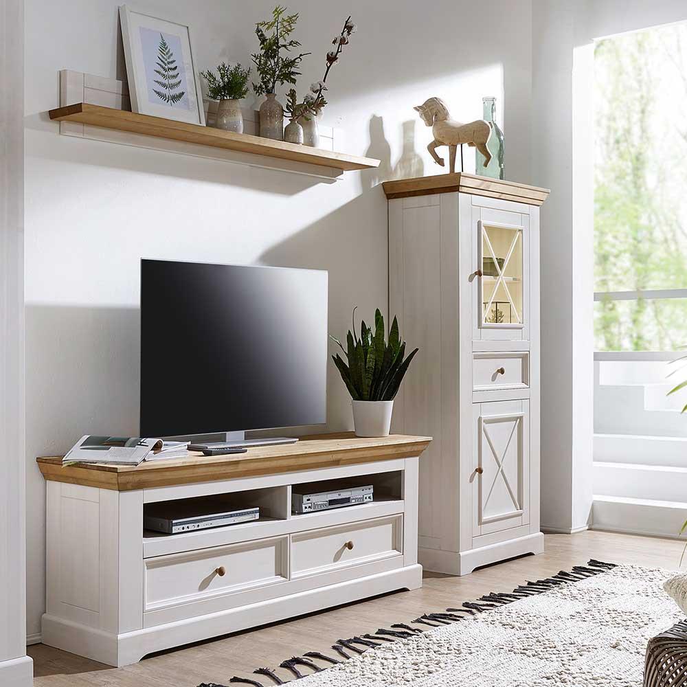 Schrankwand Weiß Holz