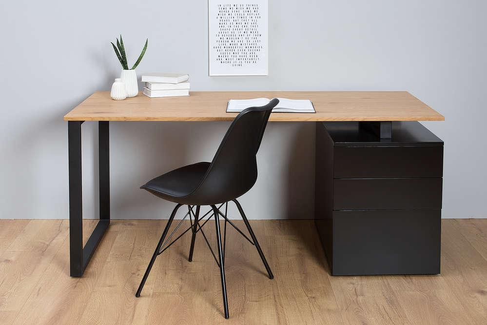 Schreibtisch Eiche Schwarz