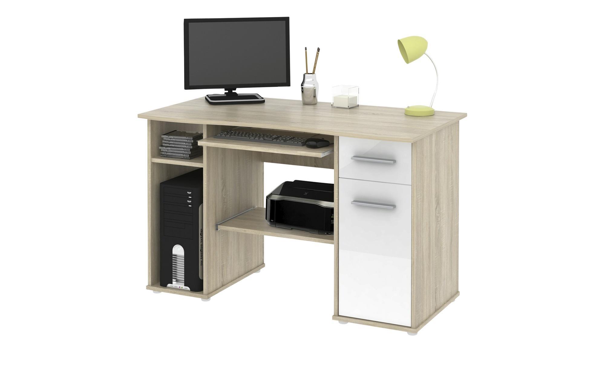 Schreibtisch Eiche Weiß