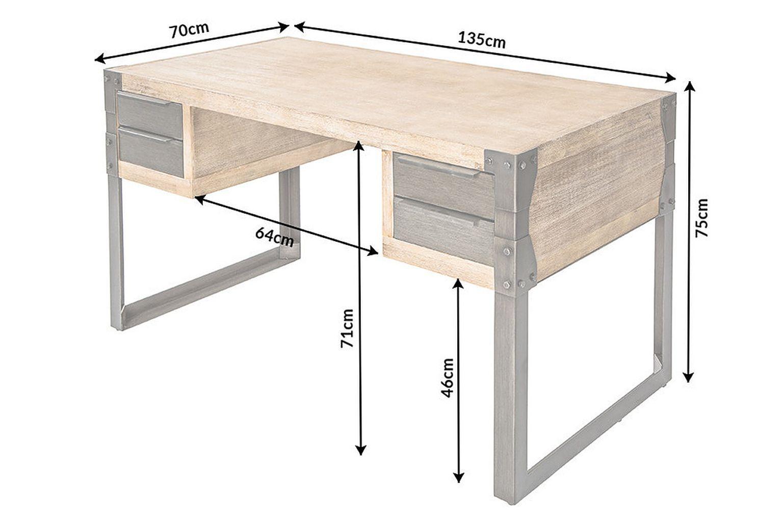 Schreibtisch Industrial Schwarz