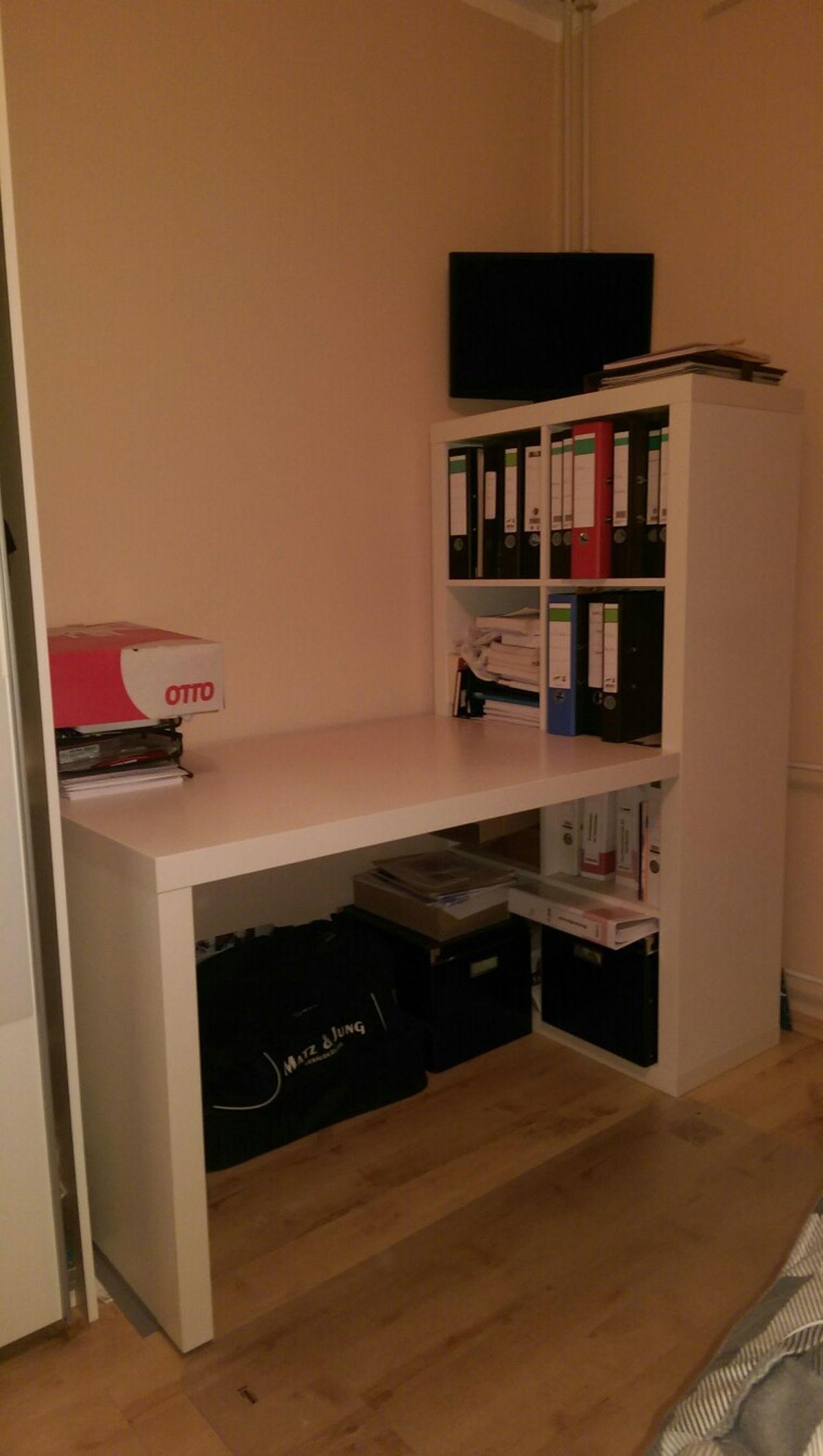 Schreibtisch Regal Kombination