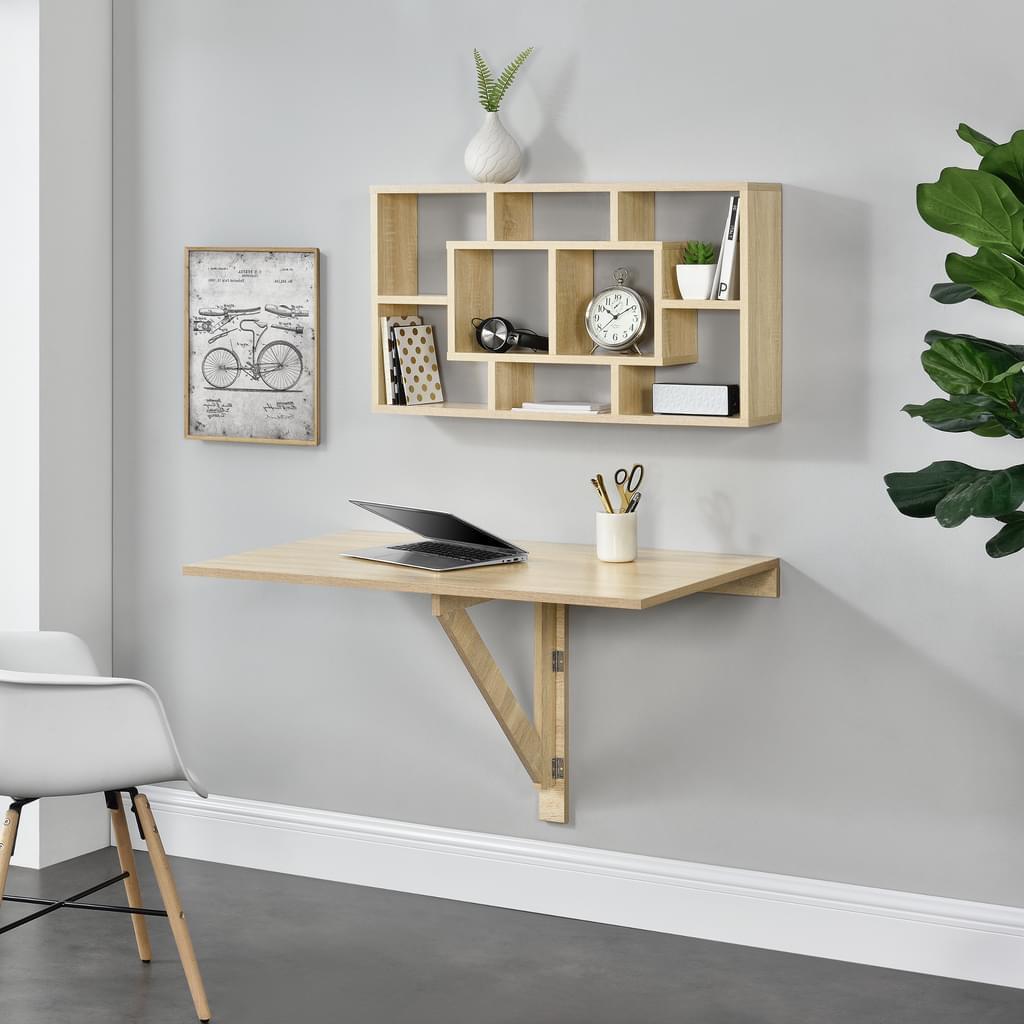 Schreibtisch Regal Wand