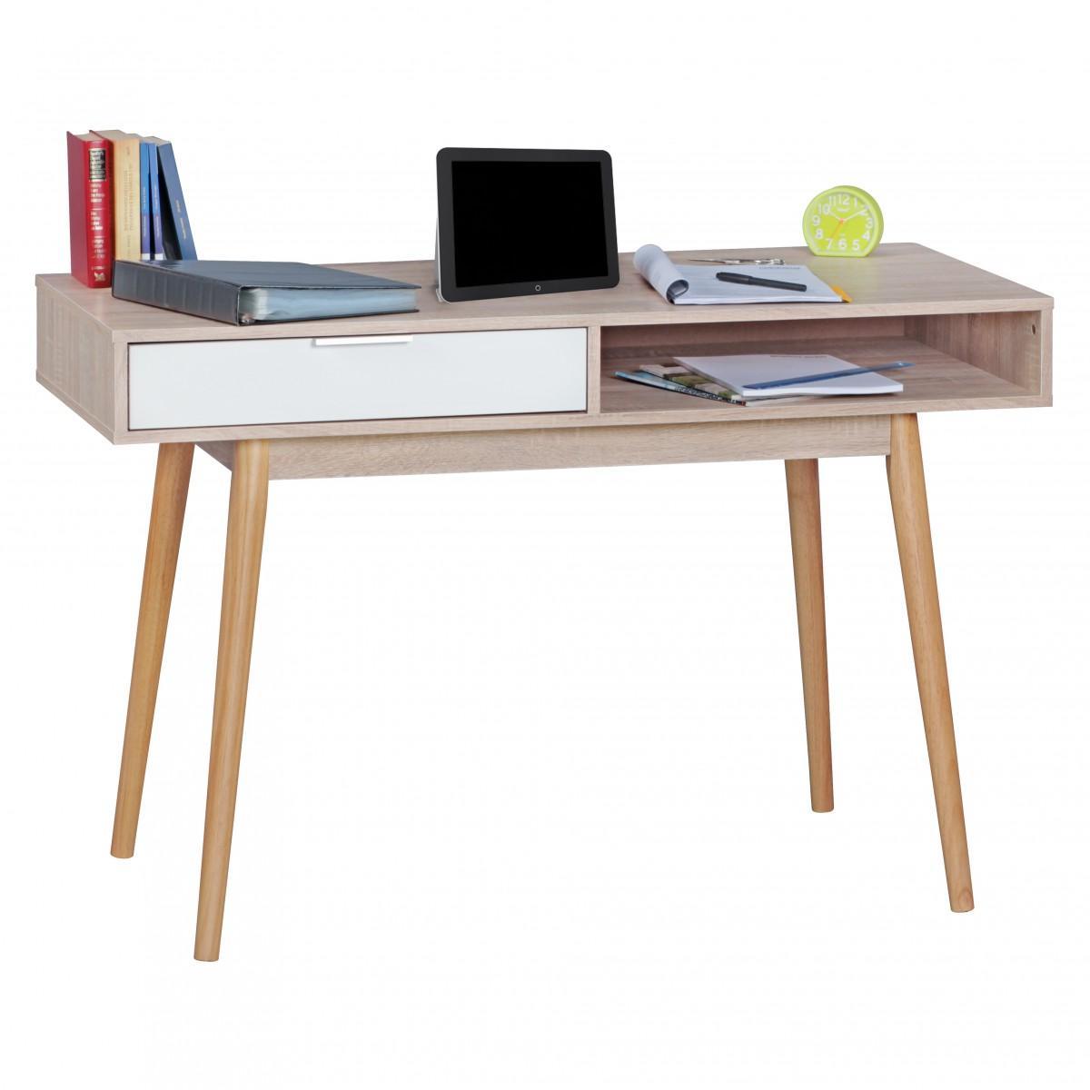 Schreibtisch Sonoma Eiche Weiß