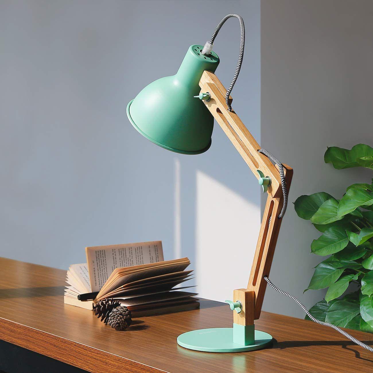 Schreibtischlampe Holz Design