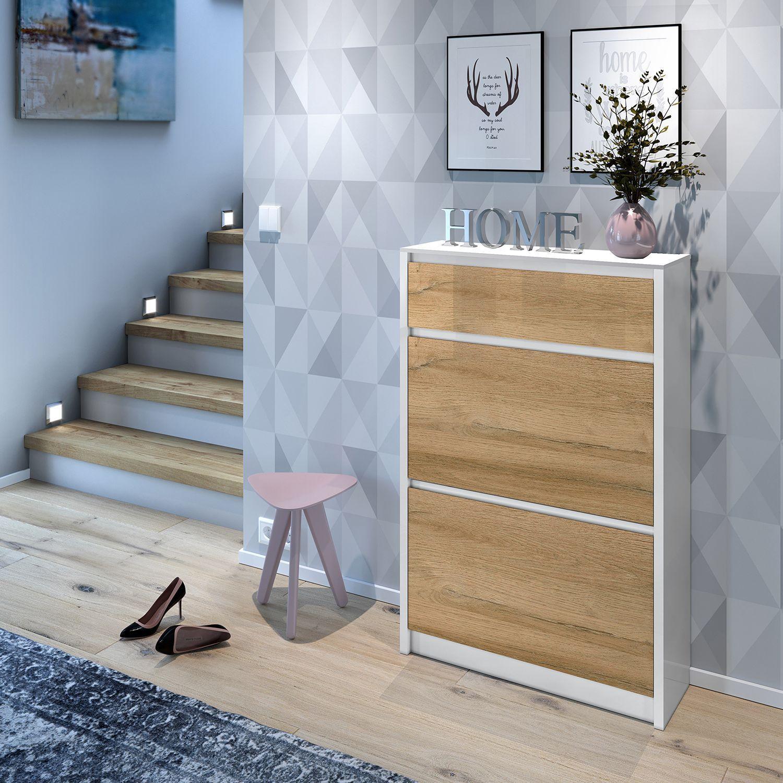 Schuhkipper Weiß Hochglanz Ikea