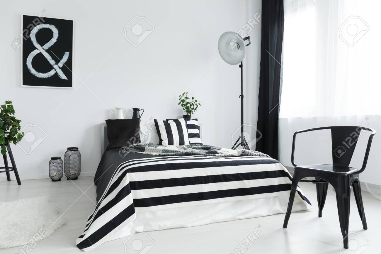 Schwarz Weißes Schlafzimmer