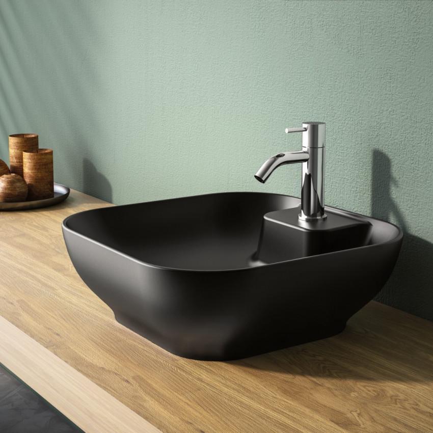 Schwarze Waschbecken Badezimmer