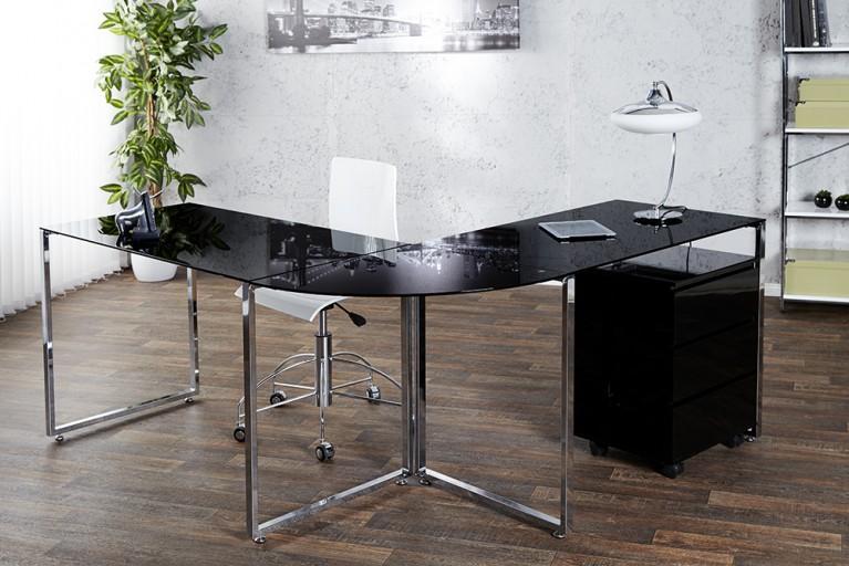 Schwarzer Schreibtisch Design