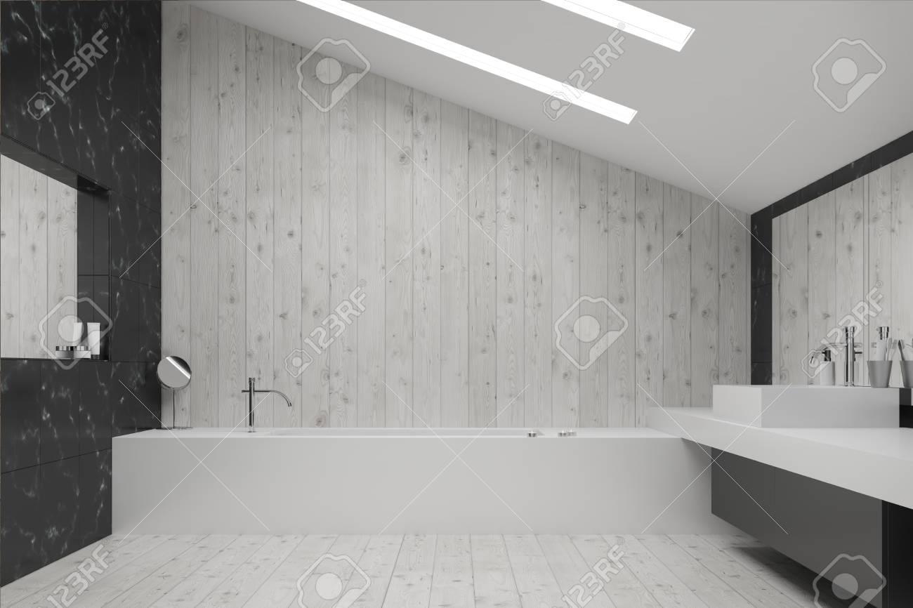 Schwarzes Marmor Waschbecken