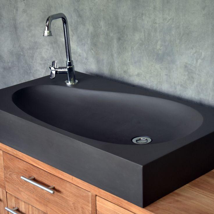 Schwarzes Waschbecken Badezimmer