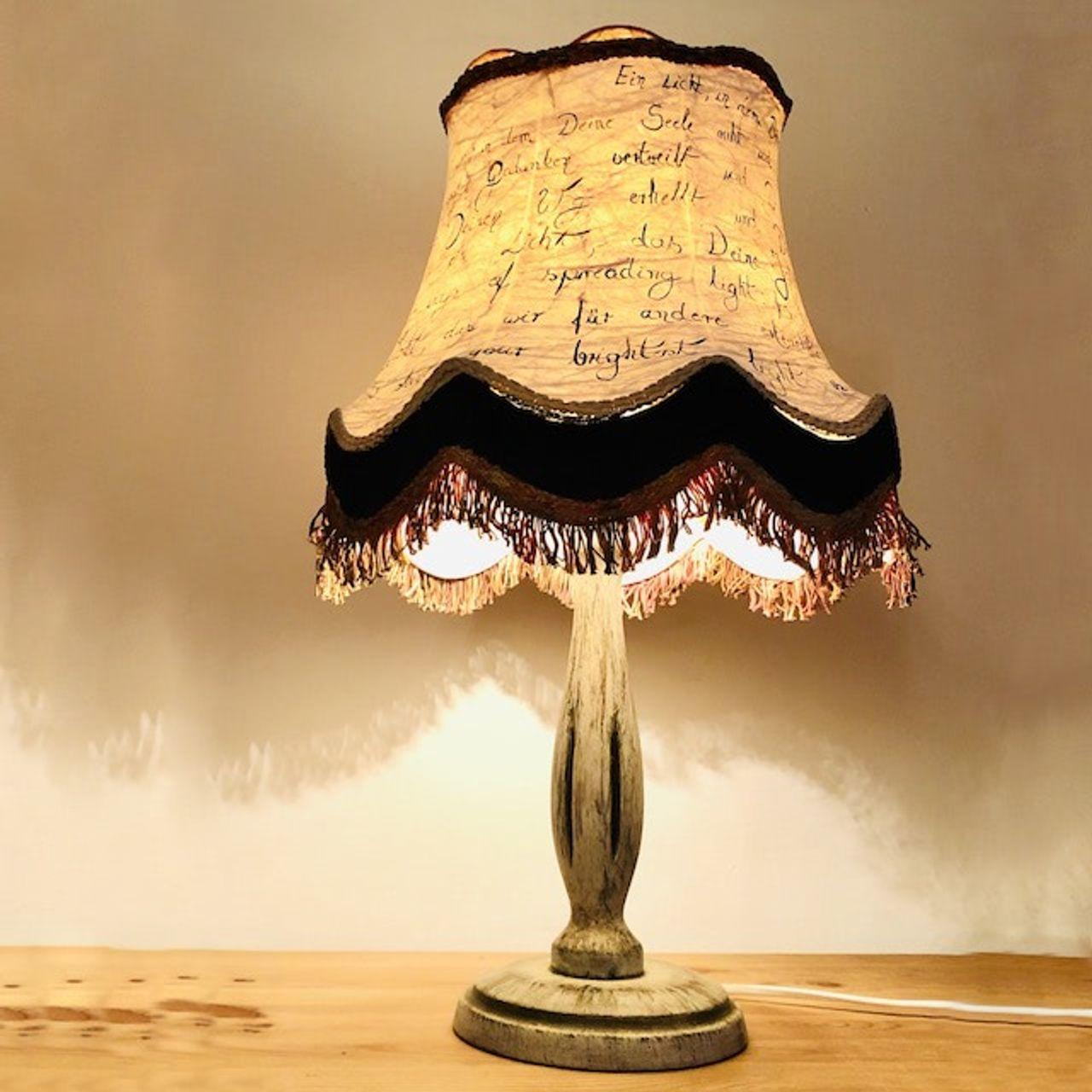 Shabby Tischlampe Vintage