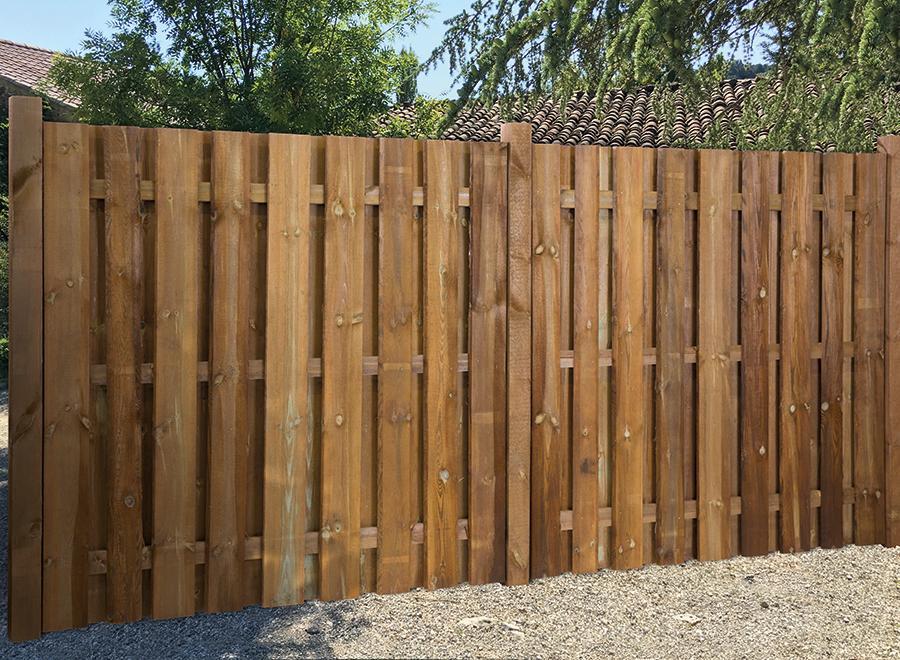 Sichtschutz Aus Holz Im Garten