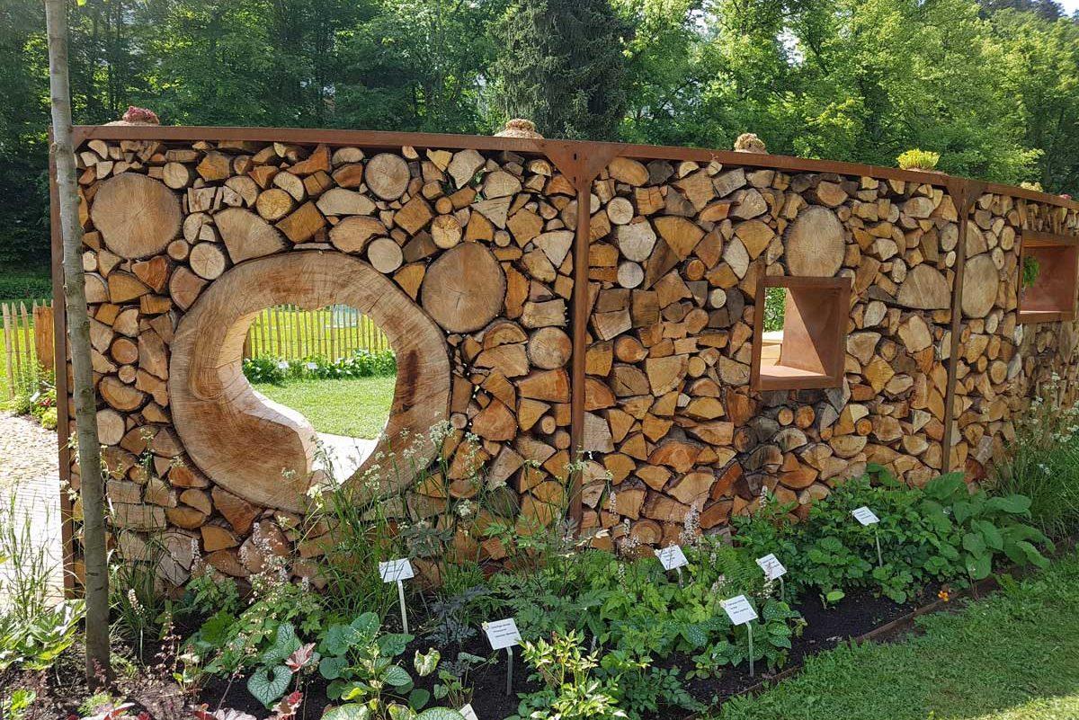 Sichtschutz Aus Holzscheiben Selber Bauen
