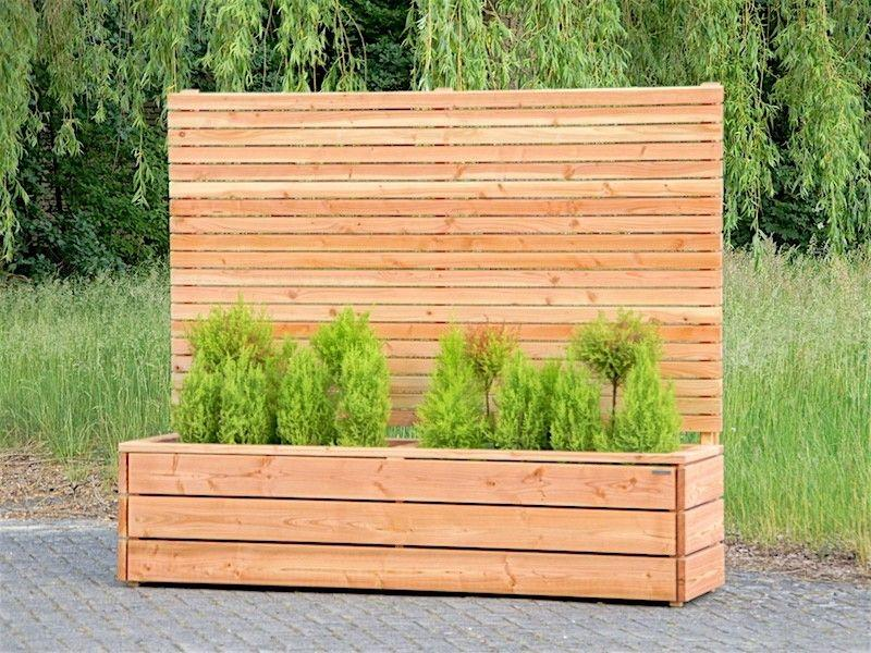 Sichtschutz Blumenkasten Holz