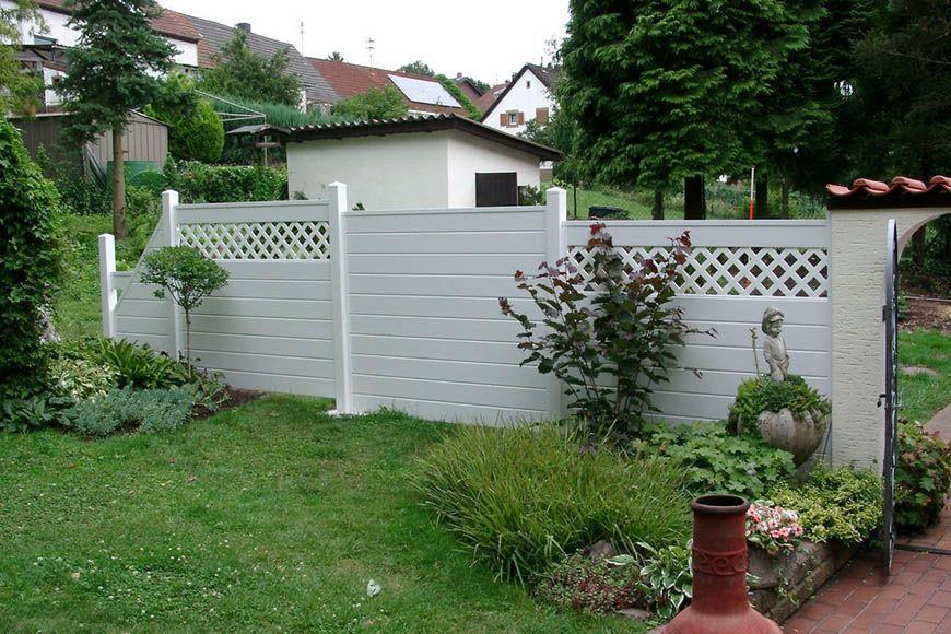 Sichtschutz Garten Kunststoff Weiß