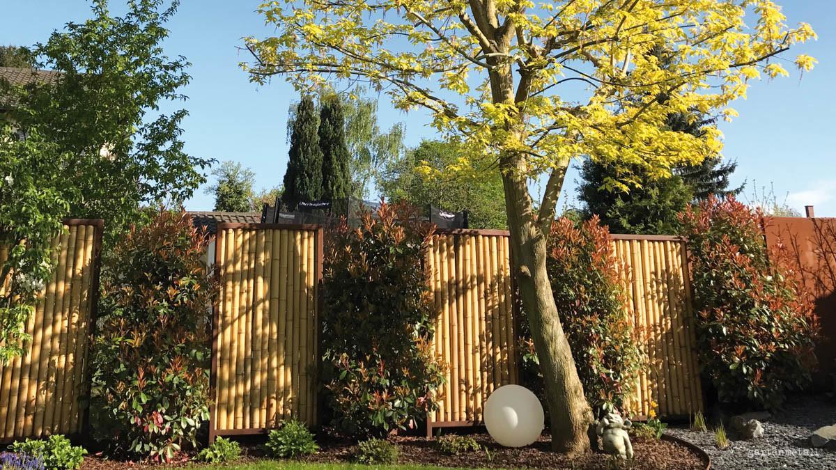 Sichtschutz Garten Metall Rost