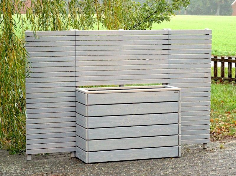 Sichtschutz Grau Holz