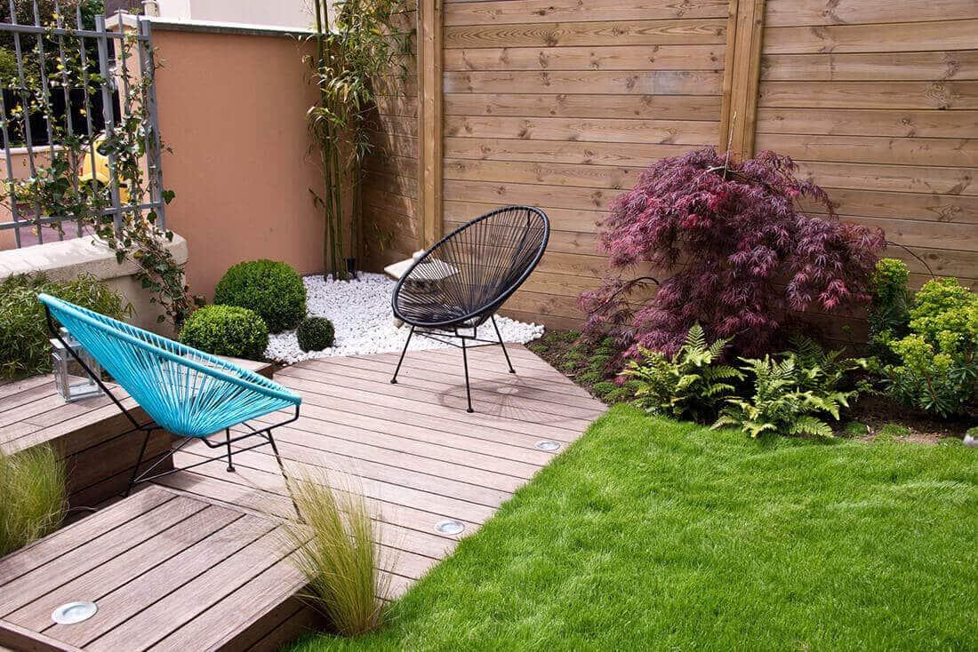 Sichtschutz Holz Garten Modern