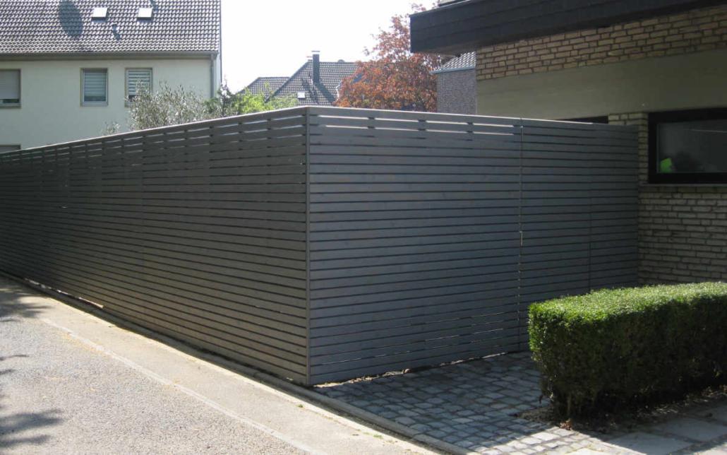 Sichtschutz Holz Modern Grau
