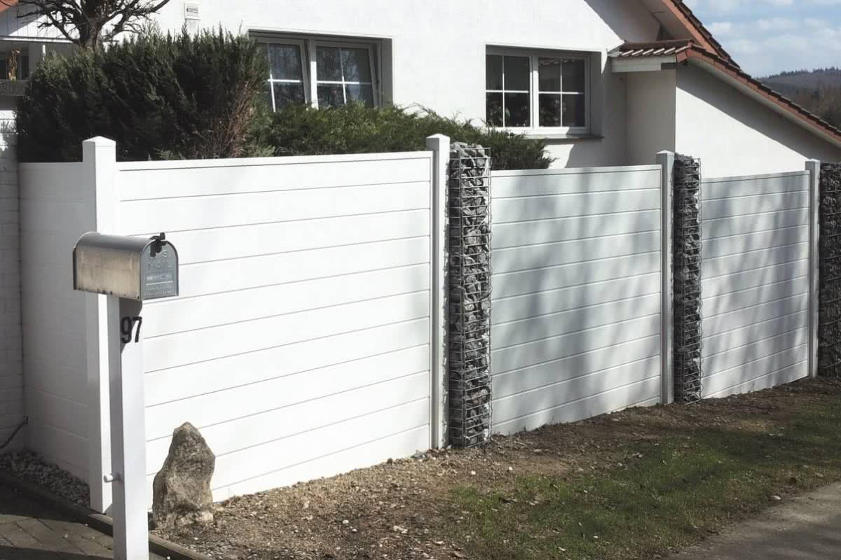 Sichtschutz Holzzaun Weiß