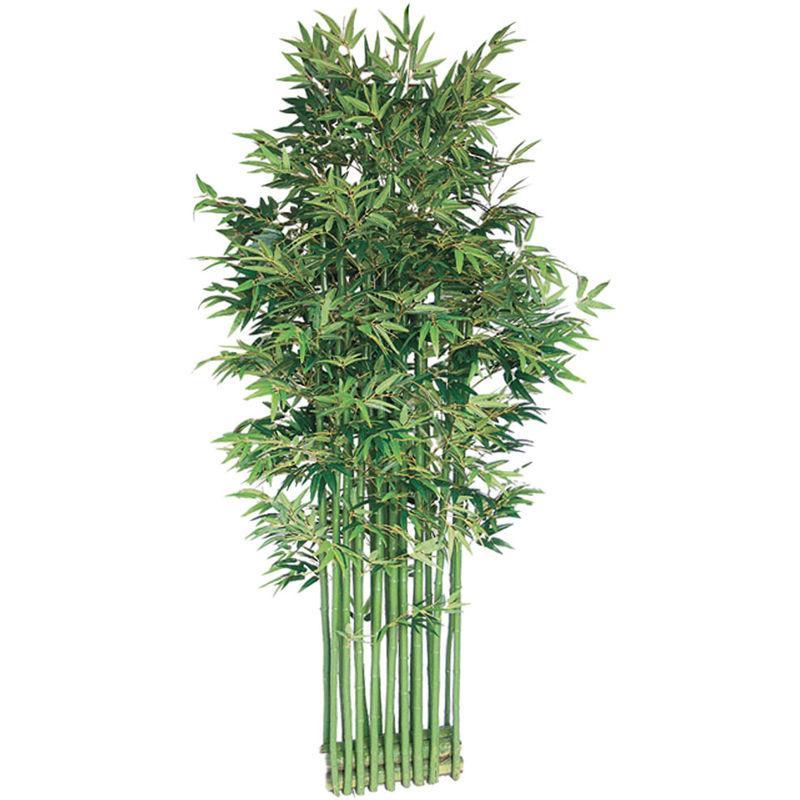 Sichtschutz Metall Rost Bambus