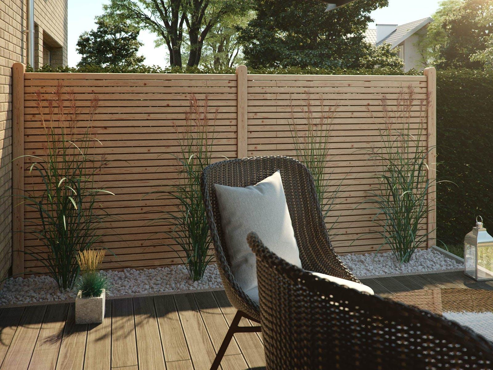 Sichtschutz Mit Pflanzen Und Steine