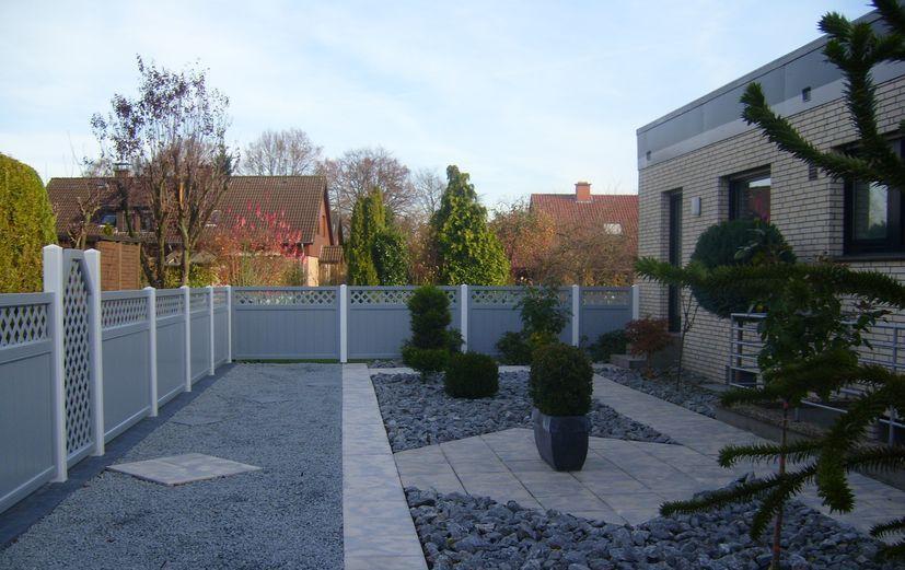Sichtschutz Terrasse Kunststoff Grau