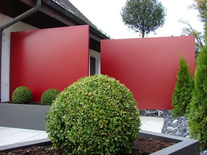 Sichtschutzwände Metall Garten