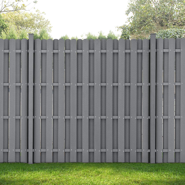 Sichtschutzzaun Grau Holz