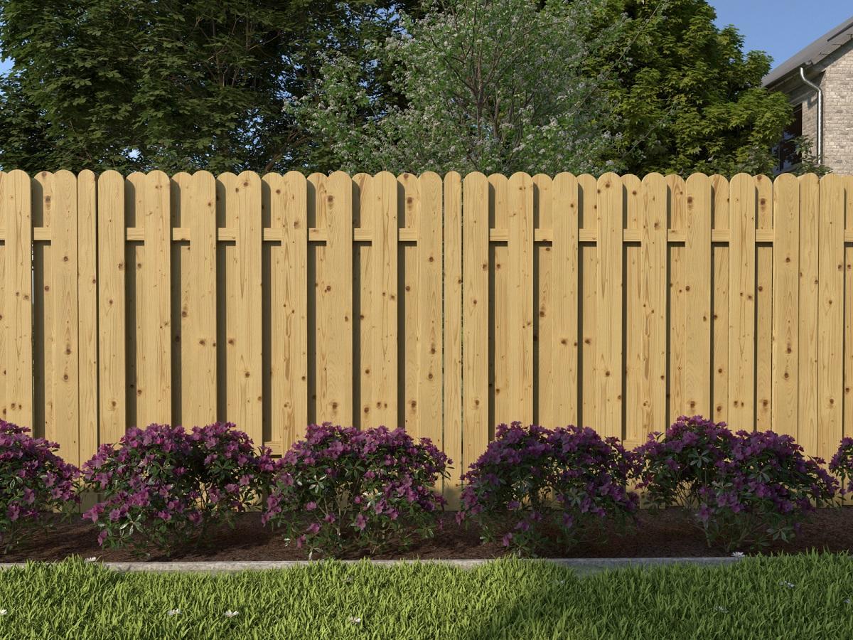 Sichtschutzzaun Holz 180×180 Rundbogen