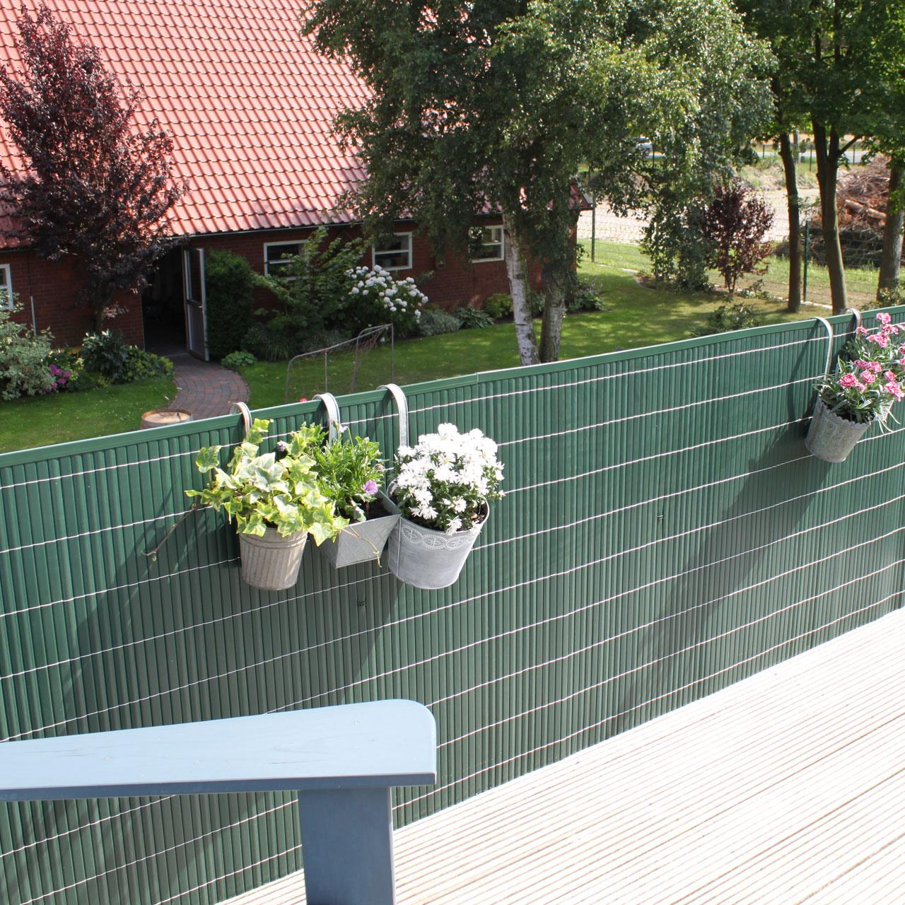 Sichtschutzzaun Kunststoff Grün