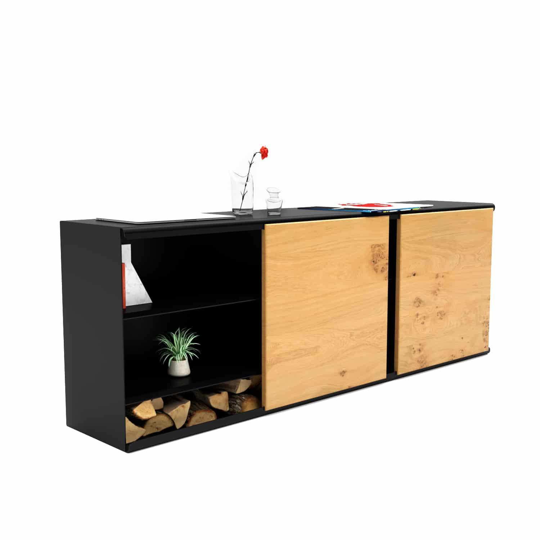 Sideboard Massivholz Metall