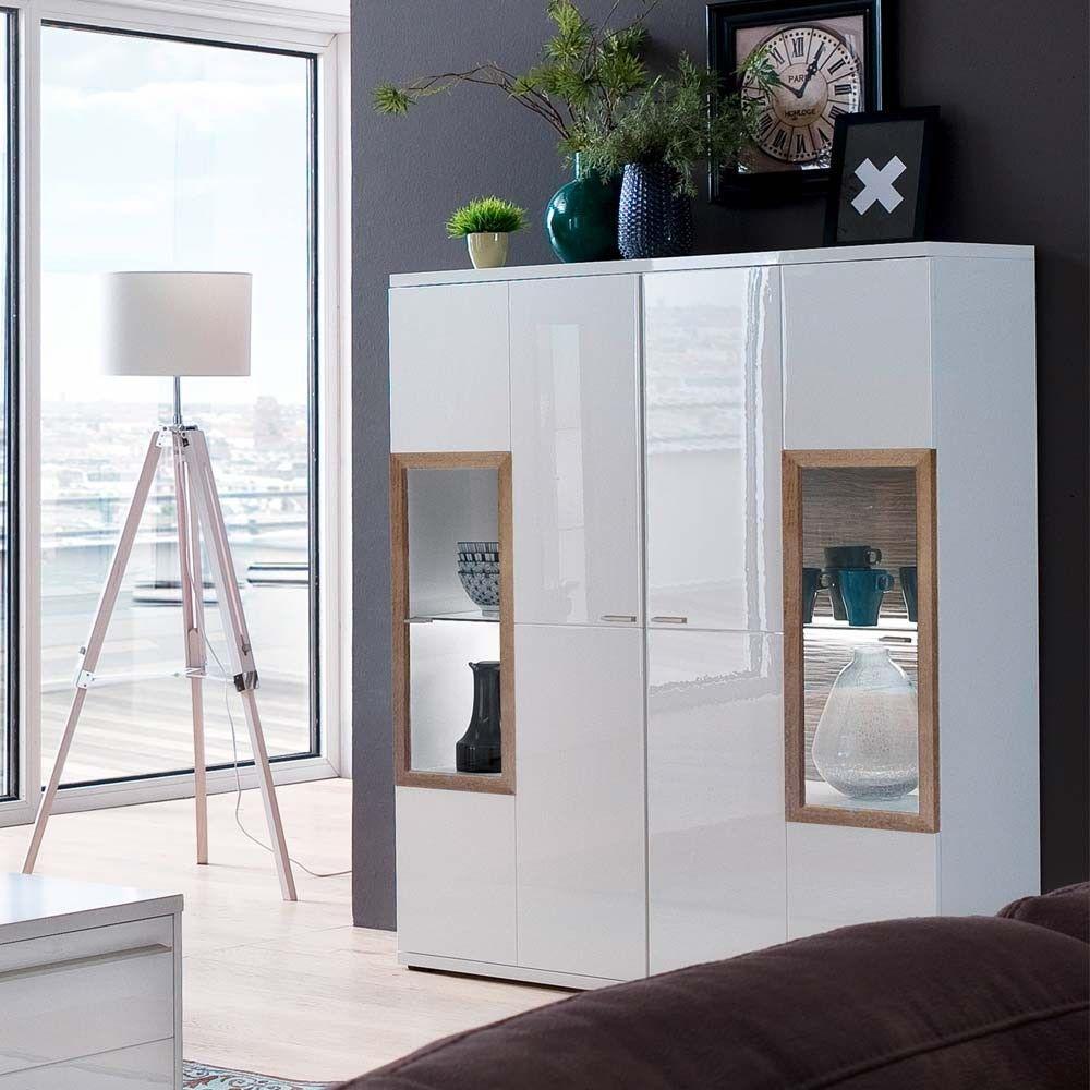 Sideboard Weiß Matt 120 Cm Breit