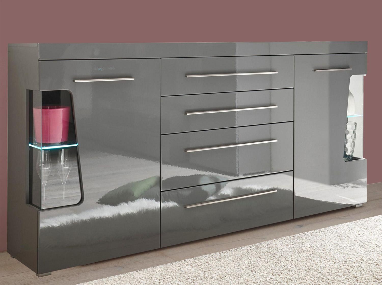 Sideboard Wohnzimmer Grau