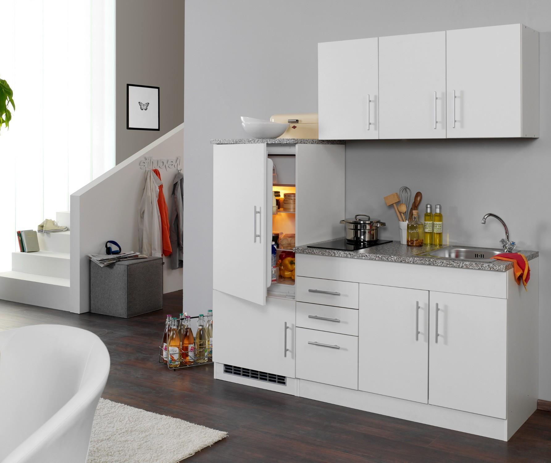 Singleküche Mit Kühlschrank Und Ceranfeld