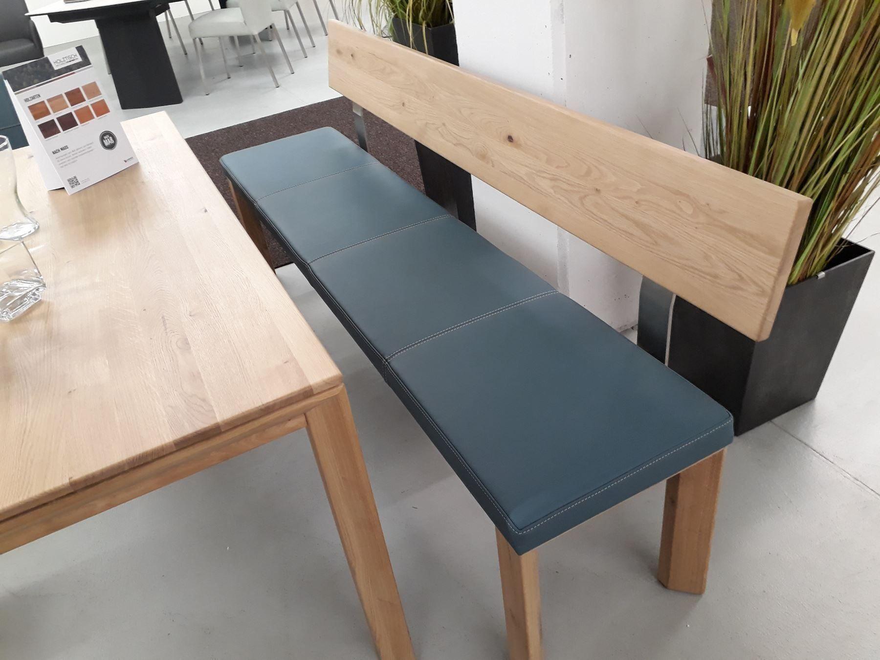 Sitzbank Eiche Leder
