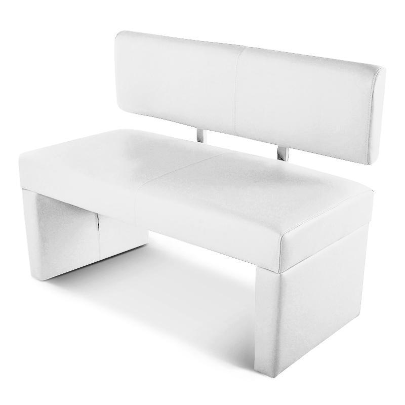 Sitzbank Leder Weiß