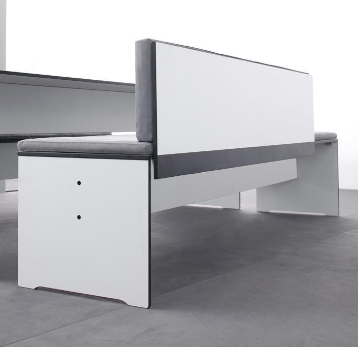 Sitzbank Mit Lehne Grau