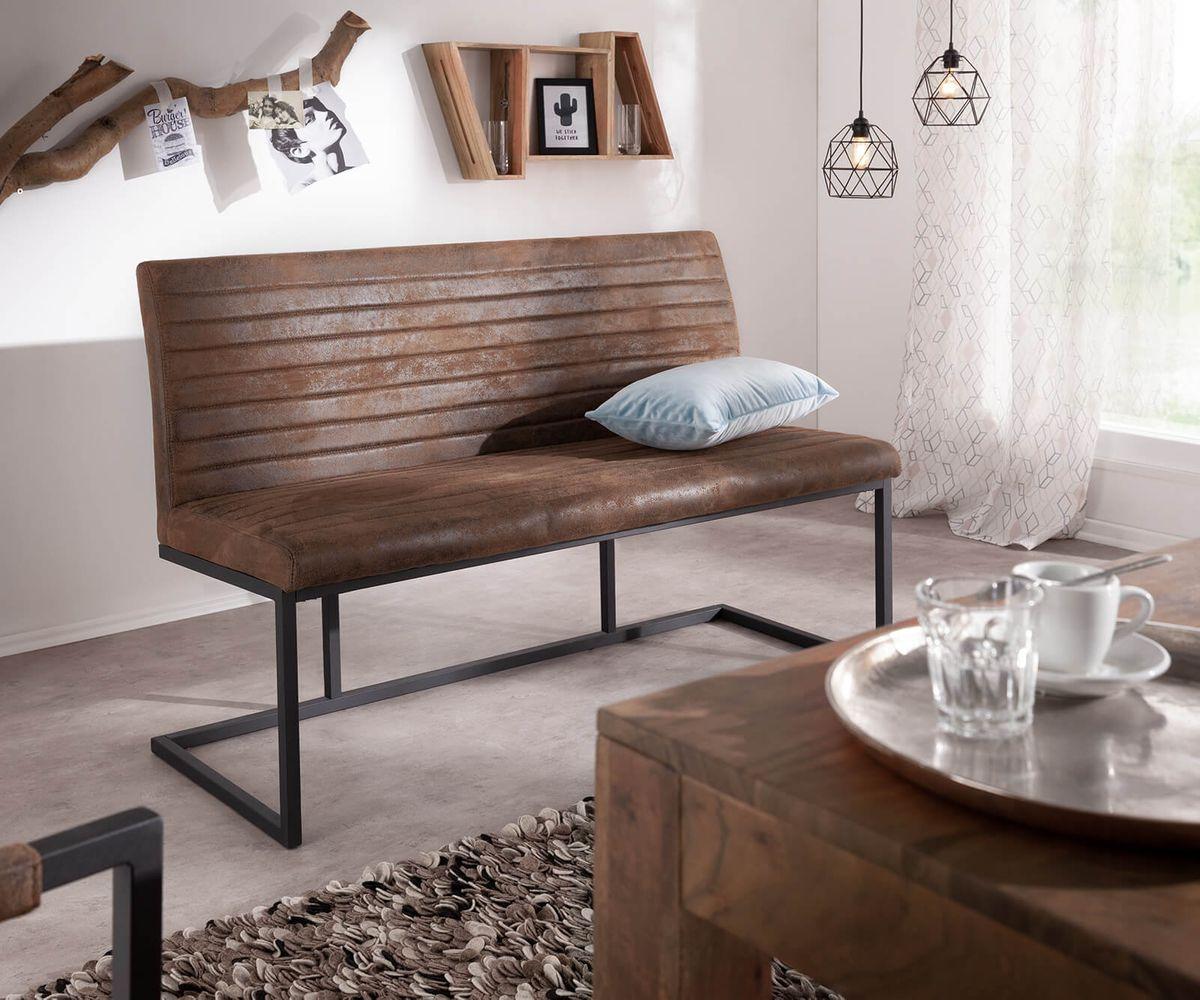 Sitzbank Mit Lehne Vintage