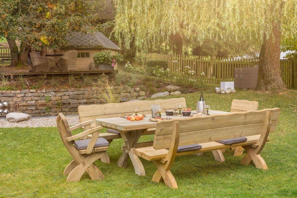 Sitzgarnitur Garten Holz Massiv