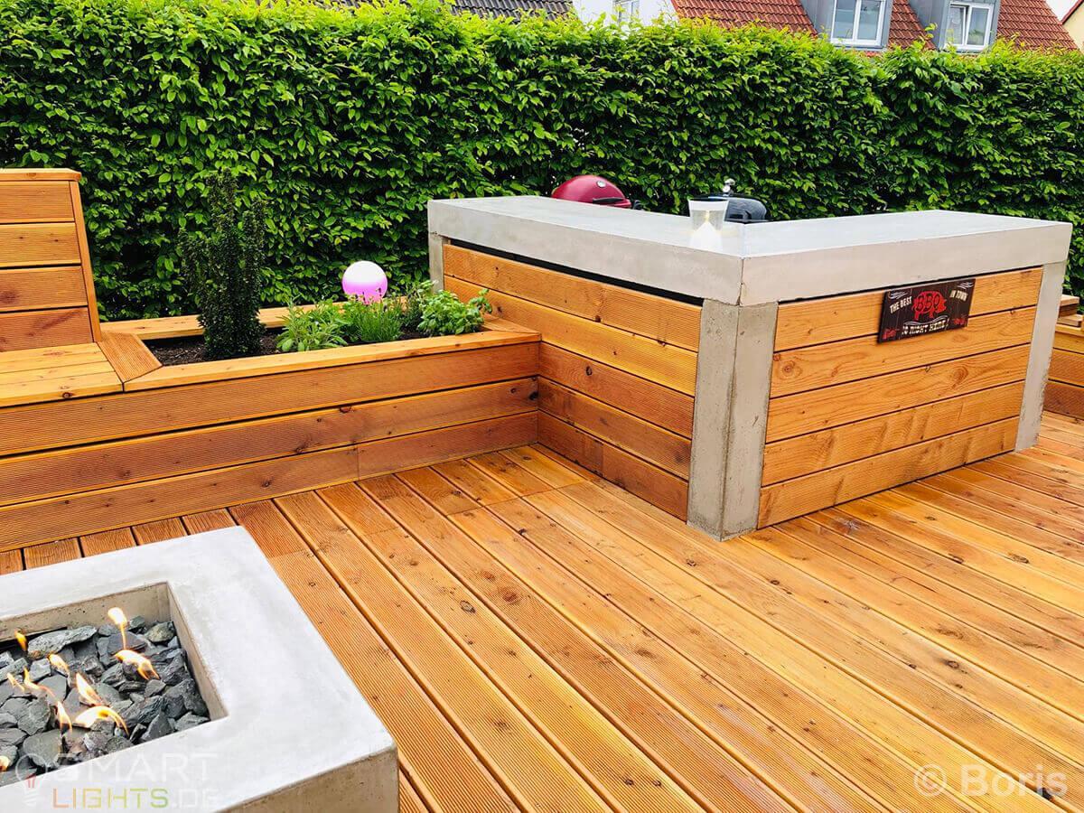 Sitzlounge Garten Holz