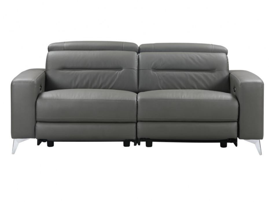 Sofa Anthrazit Leder