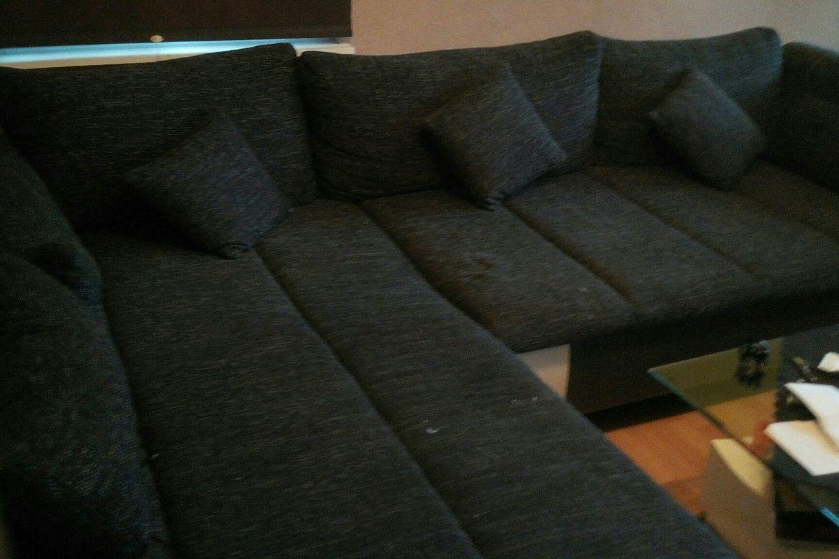 Sofa Anthrazit Weiß