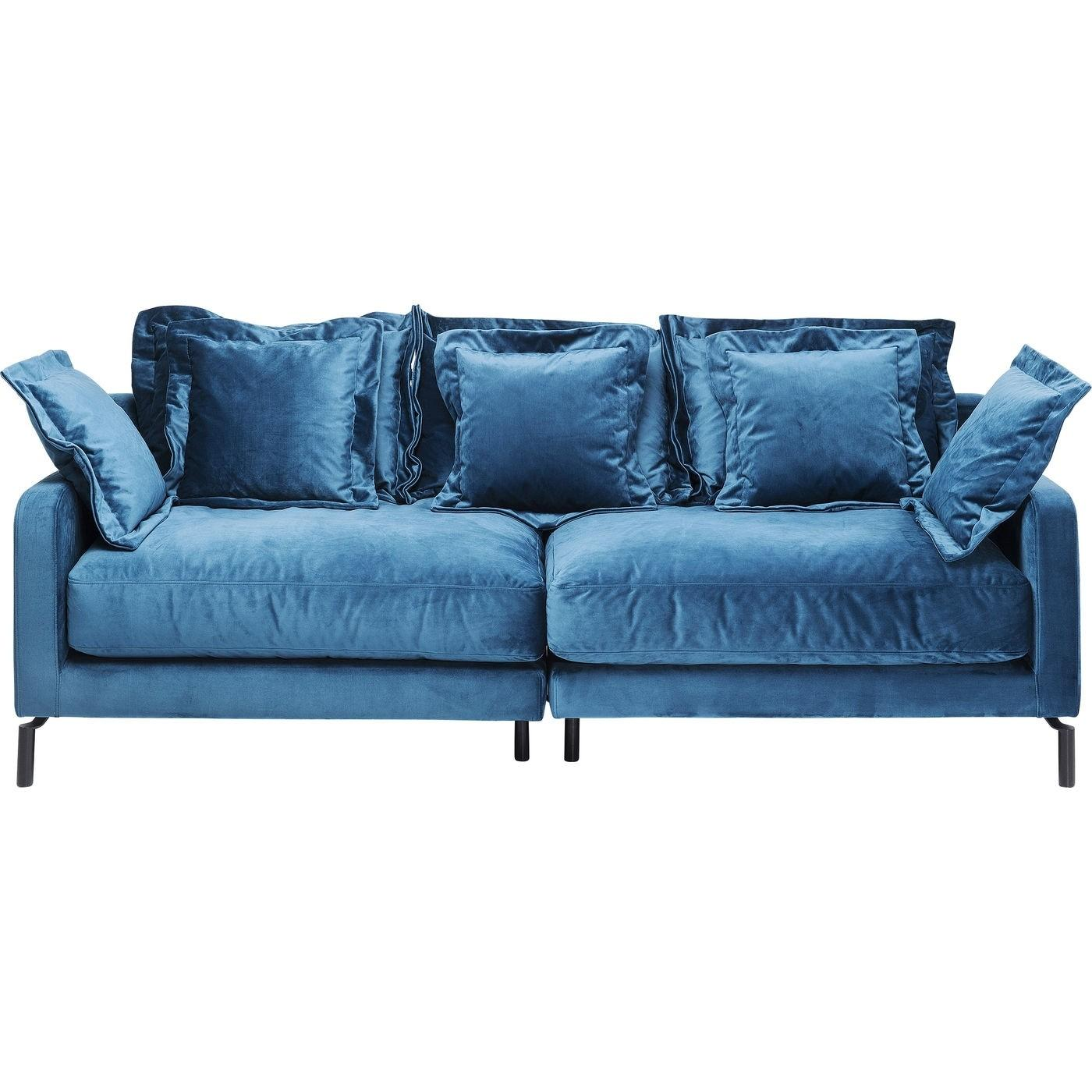 Sofa Blau 2 Sitzer