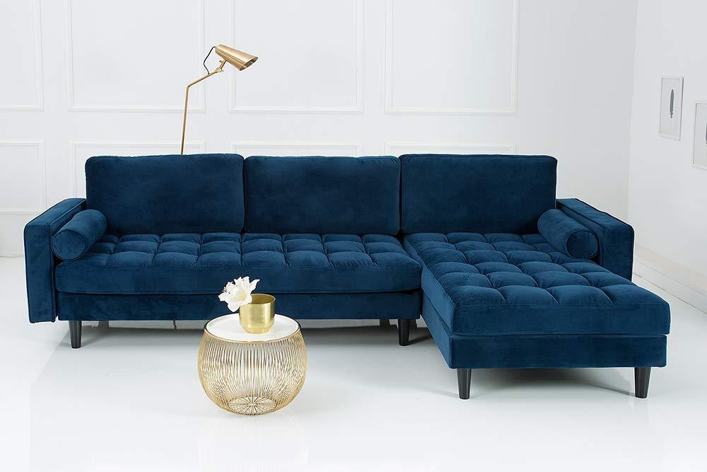 Sofa Blau Samt