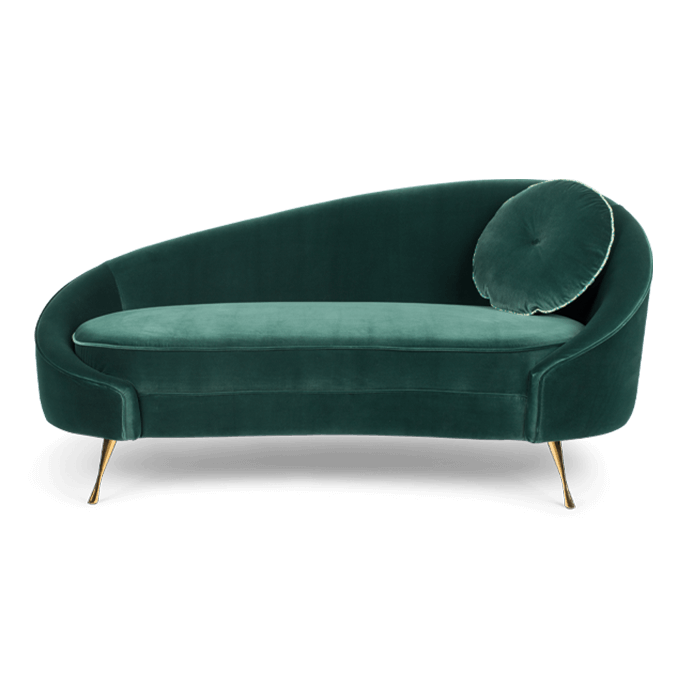 Sofa Hocker Samt