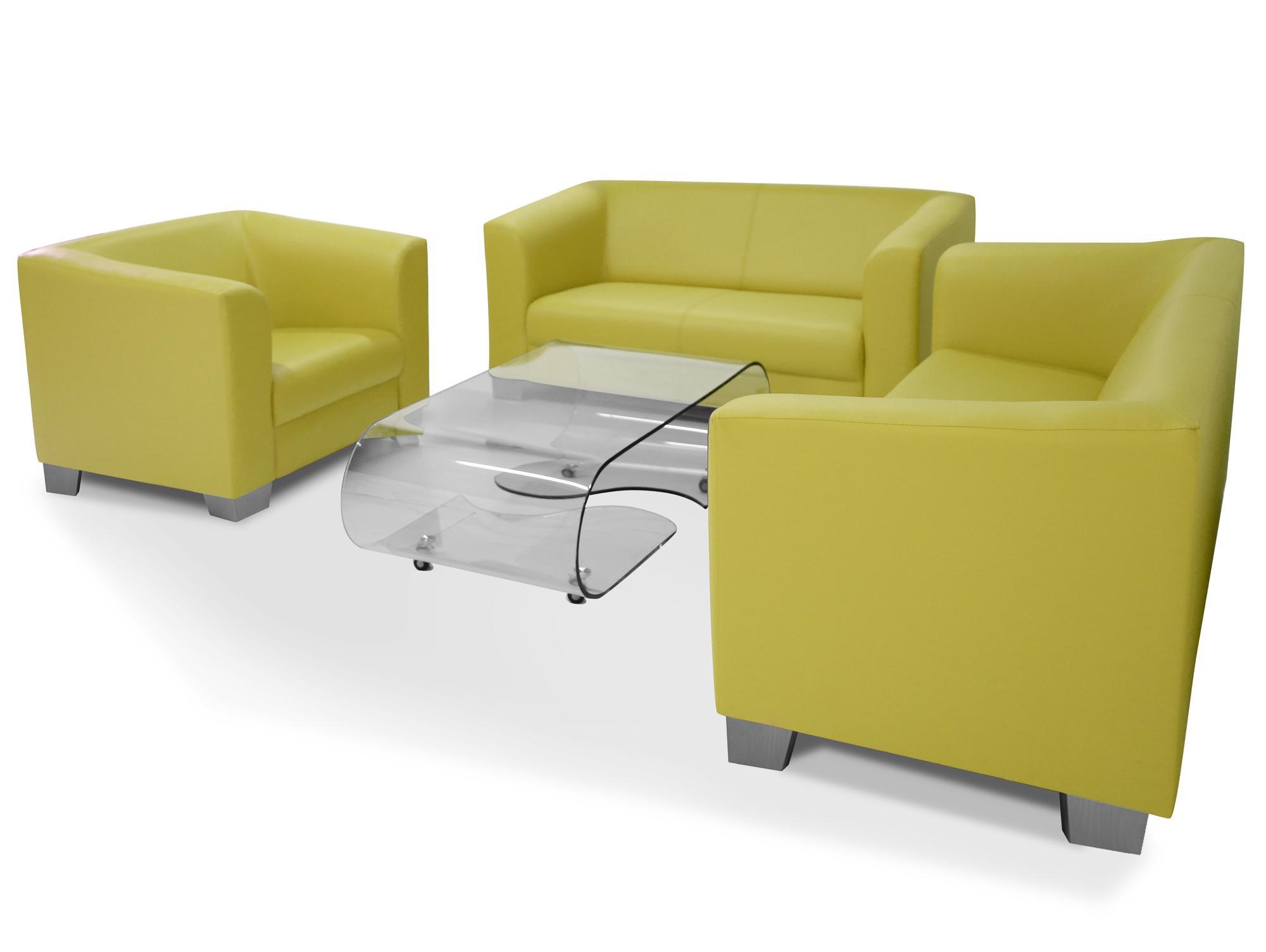 Sofa Kunstleder Grün